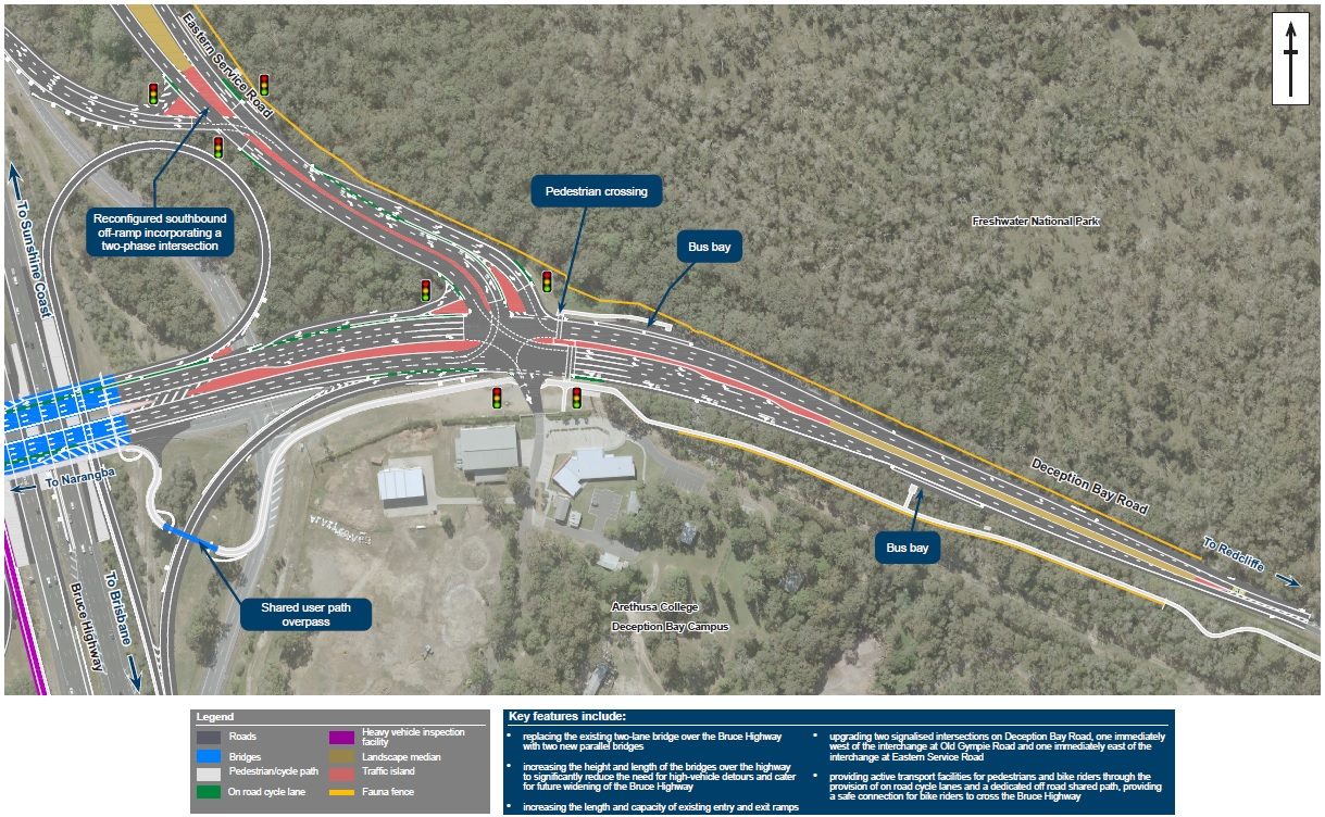 Bruce Highway Upgrade Deception Bay Road Interchange map 3