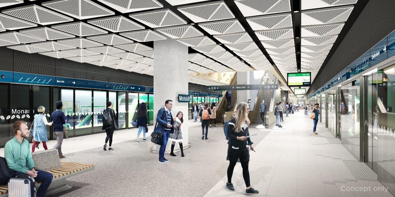 Monash-Station-Render-platform