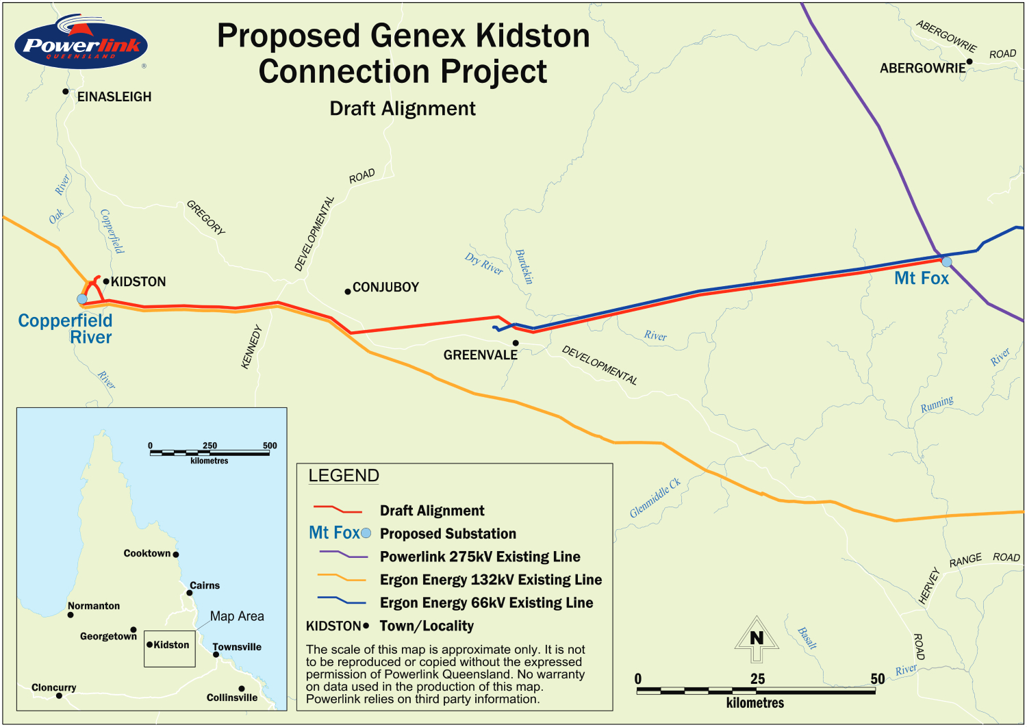 Proposed Genex Kidston Connection Project - Draft Alignment Map (1)