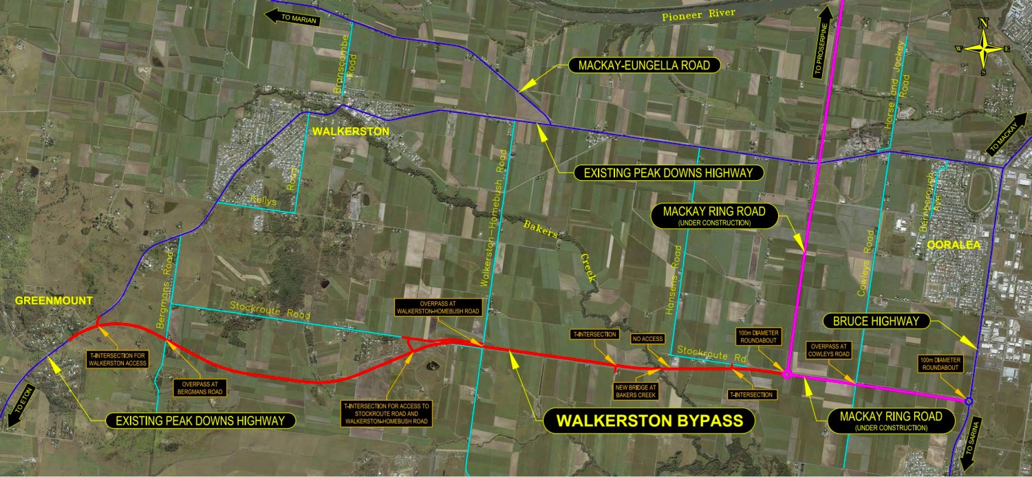 Walkerstone Bypass map