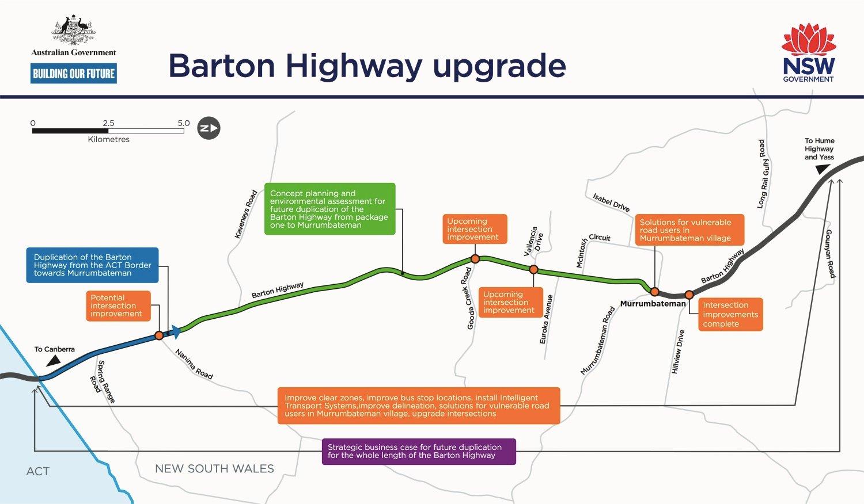 barton-highway-upgrade-status-map