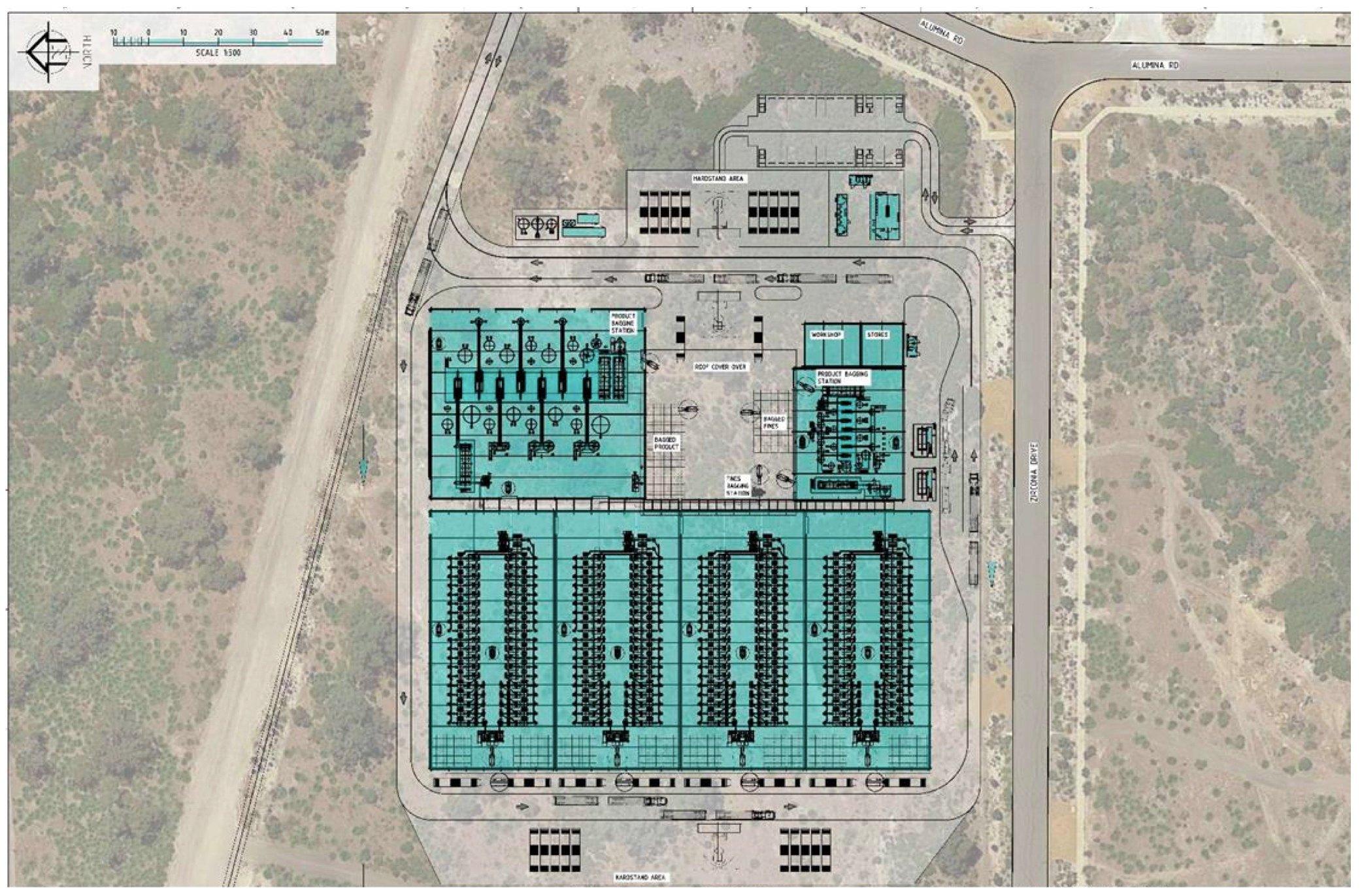 ecograf-rockingham-process-plant-layout