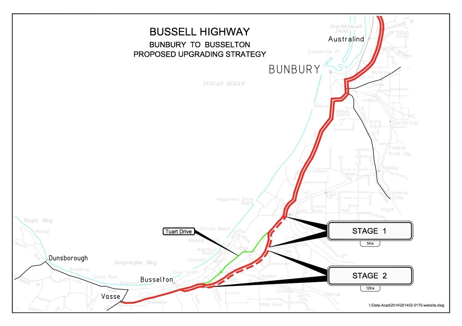 Bussell Highway - proposed map