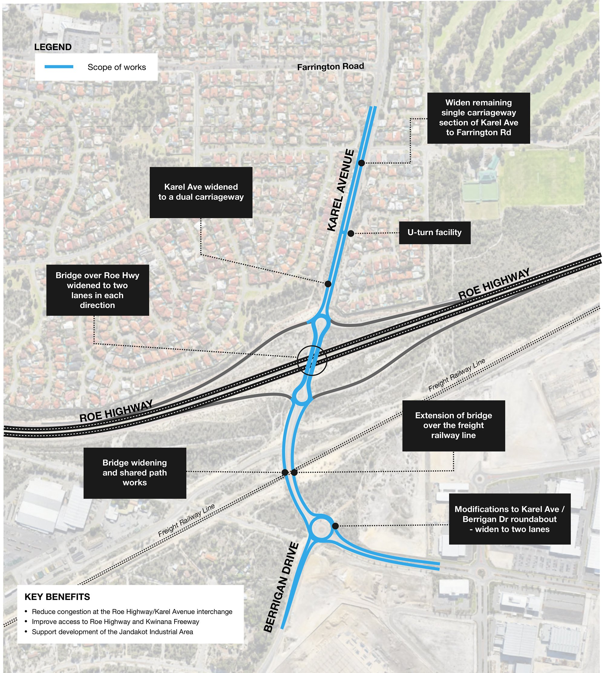 Karel Avenue Upgrade - Overview map - January 2019