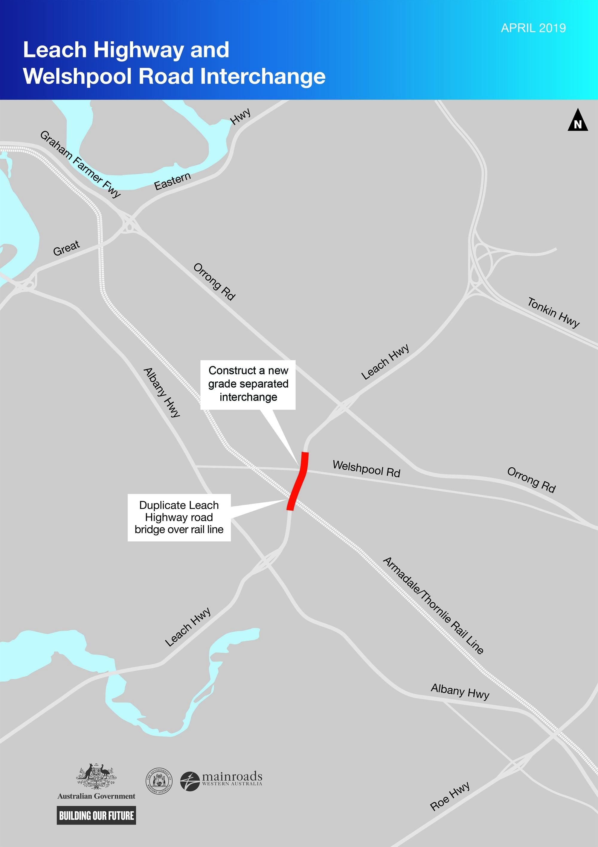 Leach Hwy and Welshpool Rd map