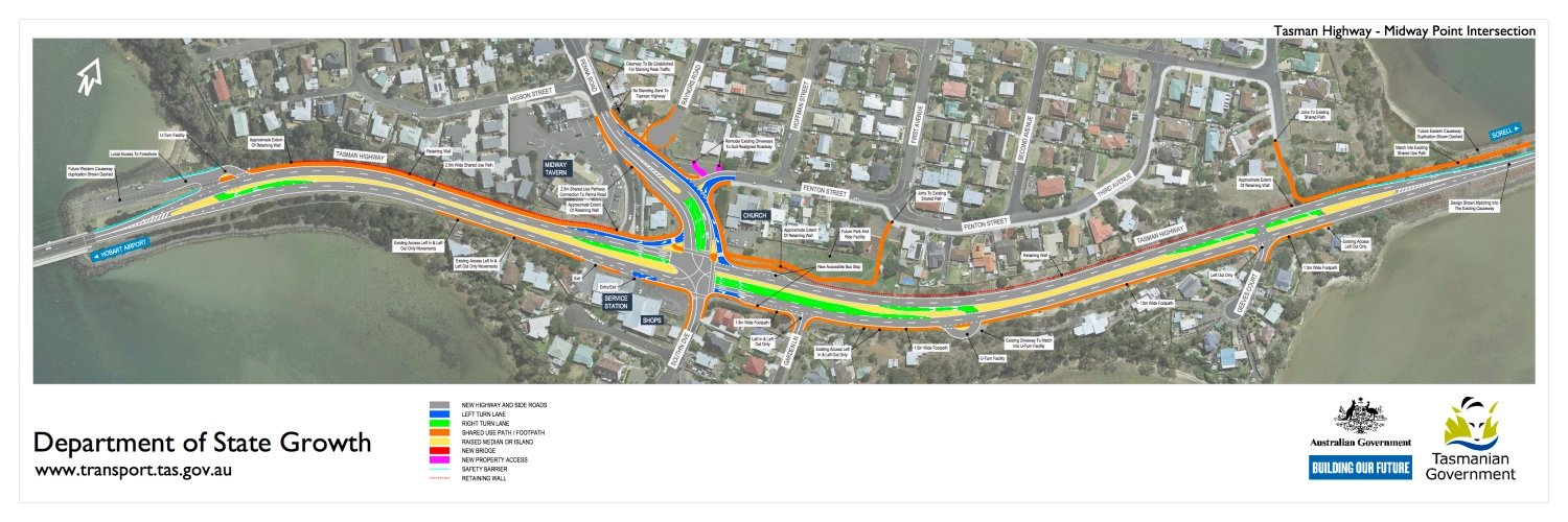 Tasman_Highway_-_Midway_Point_Intersection_Solution_Drawing