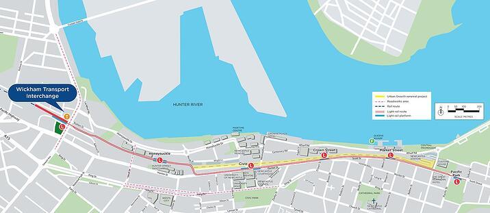 Newcastle's $510m light rail project taking shape