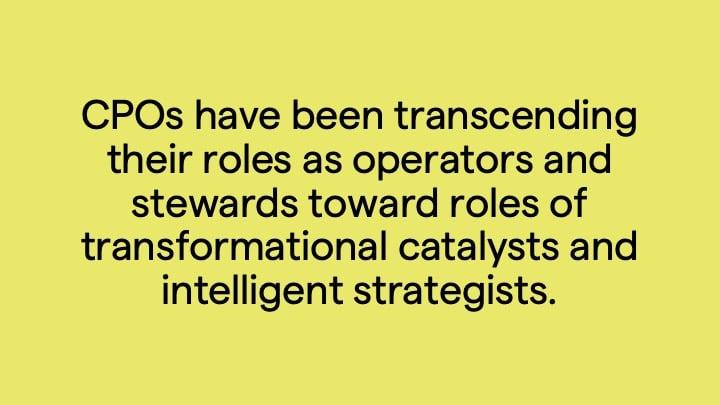 evolving role CPO