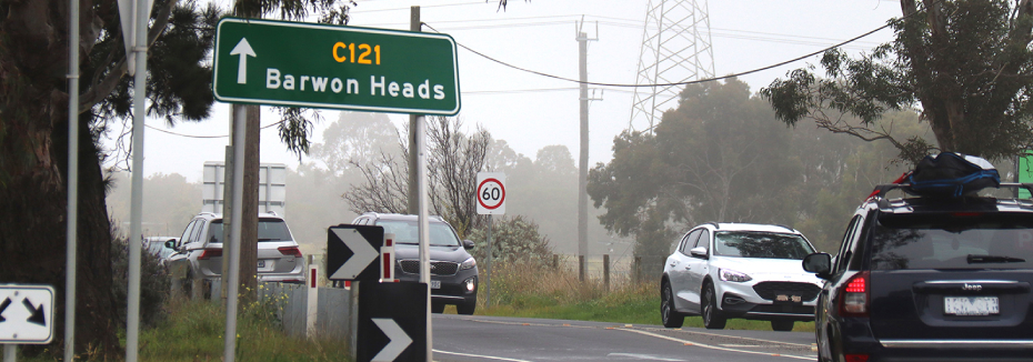Barwon Heads Road (cr: Major Road Projects Victoria)