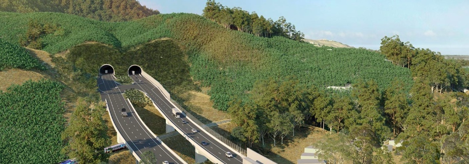 Shephards Lane tunnel (cr: Pacific Highway Upgrade - Coffs Harbour Bypass)