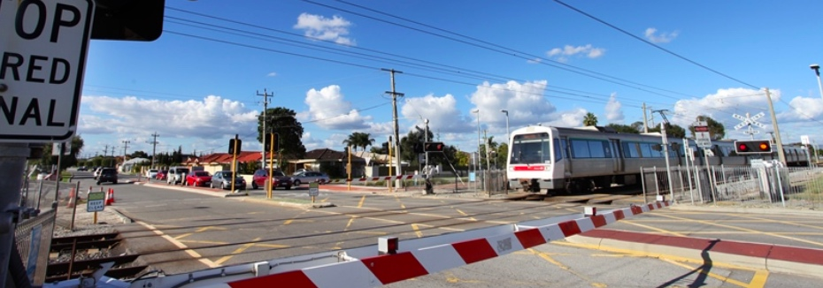 WA level crossing (cr: METRONET)