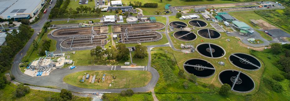 Loganholme Wastewater Treatment Plant (cr: Downer)