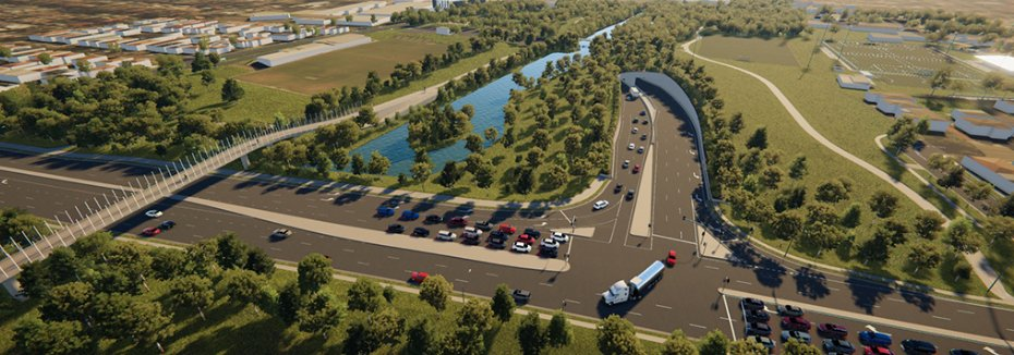 Artist impression of M6 Stage 1 (cr: Transport for NSW)