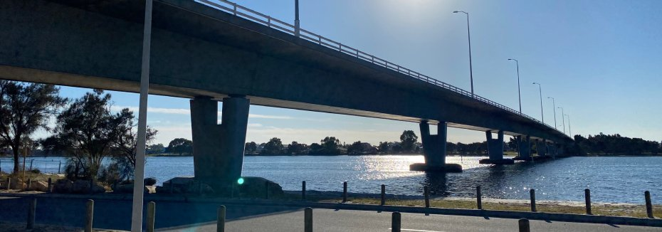 Estuary bridge (cr: Western Independent - Kasey Gratton)