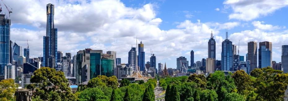 Melbourne skyline (cr: Wikipedia)