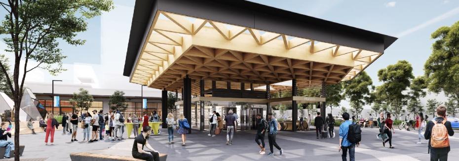 New Monash Station facade (cr: Suburban Rail Loop)