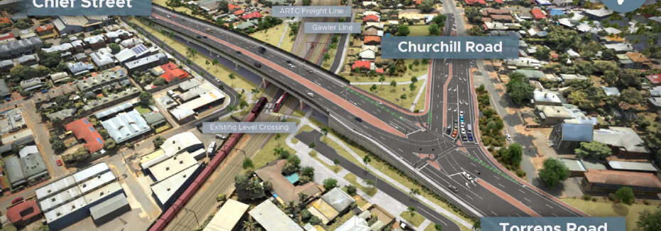 Ovingham Level Crossing Removal Project (cr: Department for Infrastructure and Transport)