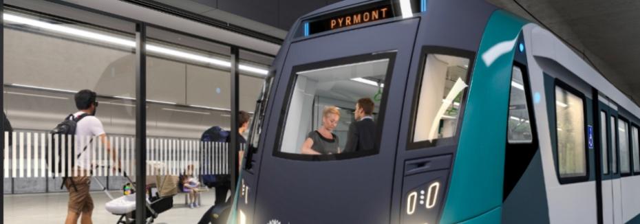Artist impression of Pyrmont metro station (cr: Sydney Metro)