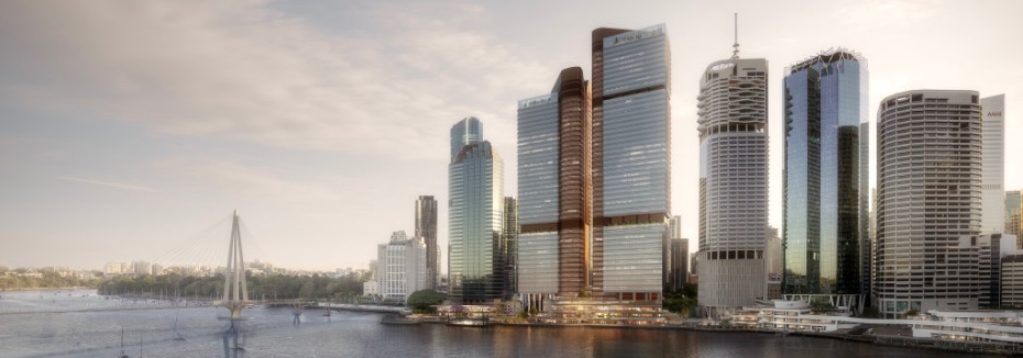 Waterfront Brisbane development (cr: Brisbane Times)