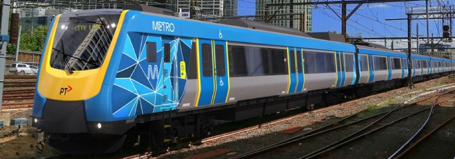 X'Trapolis 2.0 train (cr: Herald Sun)
